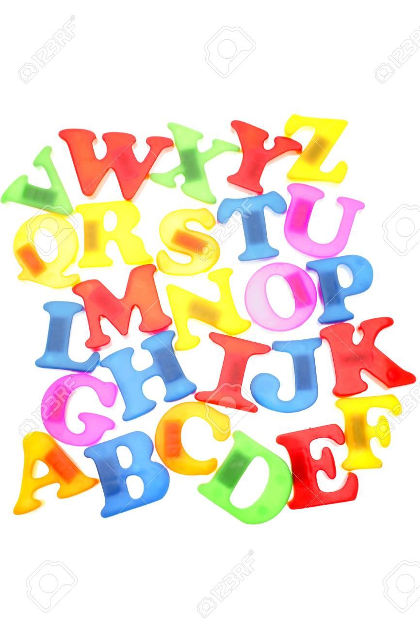 Alphabet letters on white Stock Photo - 3262019