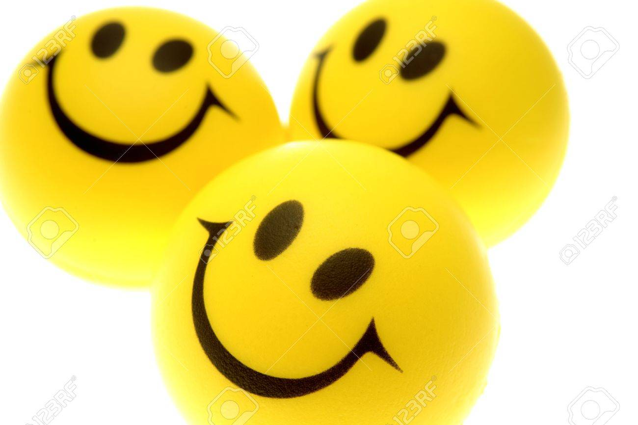 three smiley faces stock photo picture and royalty free image