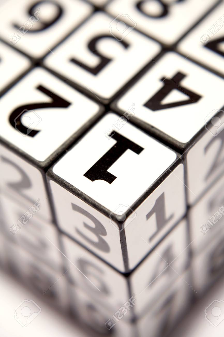 Numbers puzzle Stock Photo - 3716939