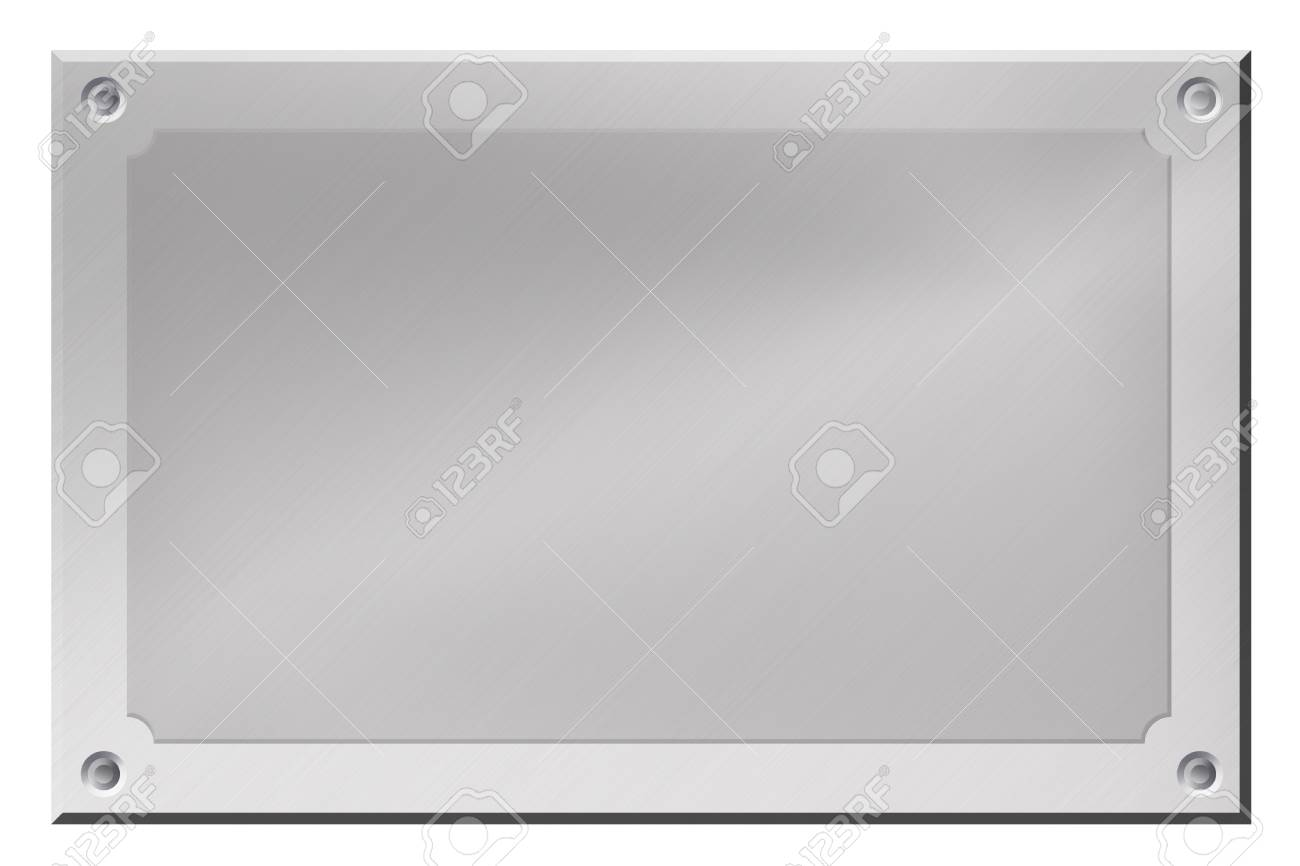 Brushed steel background isolated on white. Copy space Stock Photo - 6302085