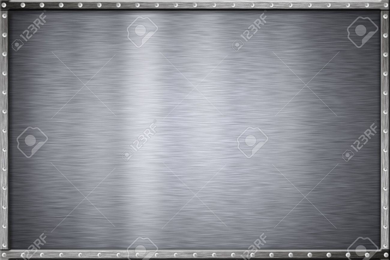 Rivets in metal frame. Copy space. Stock Photo - 6381511