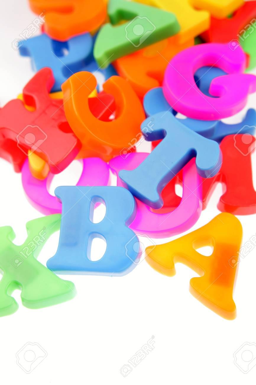 Alphabet letters on plain background Stock Photo - 6826537