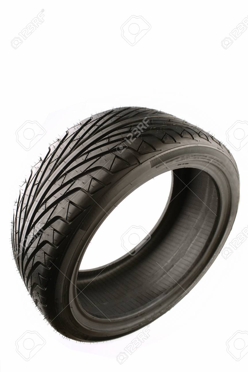 Auto tyre isolated on plain background Stock Photo - 7362956