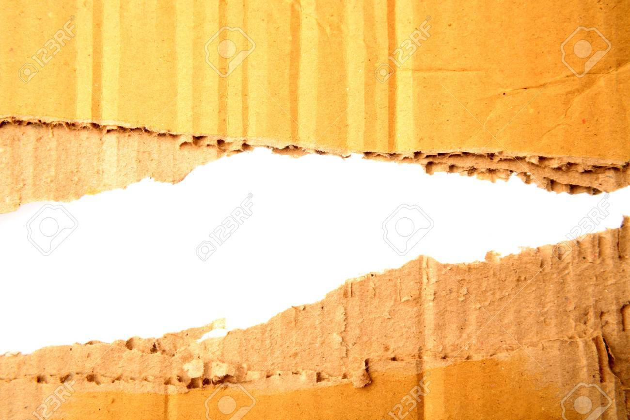 Gap in corrugated cardboard on white background Stock Photo - 7366809