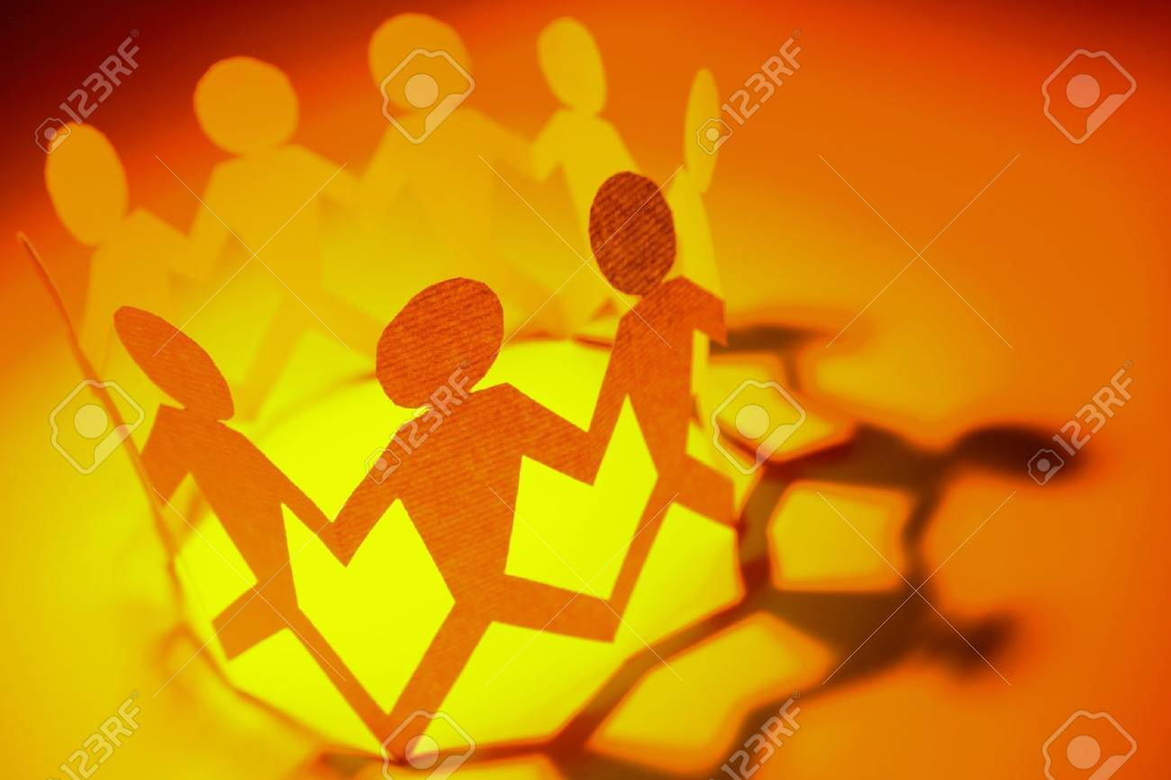 Group of people holding hands in a circle Stock Photo - 7893096