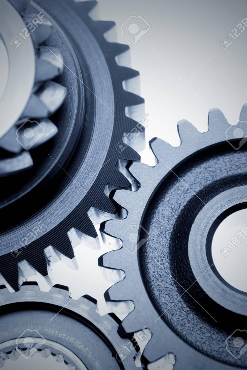 Closeup of three metal gears Stock Photo - 7893163