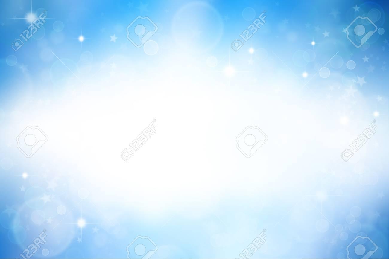 Stars on blue background. Copy space Stock Photo - 8077386
