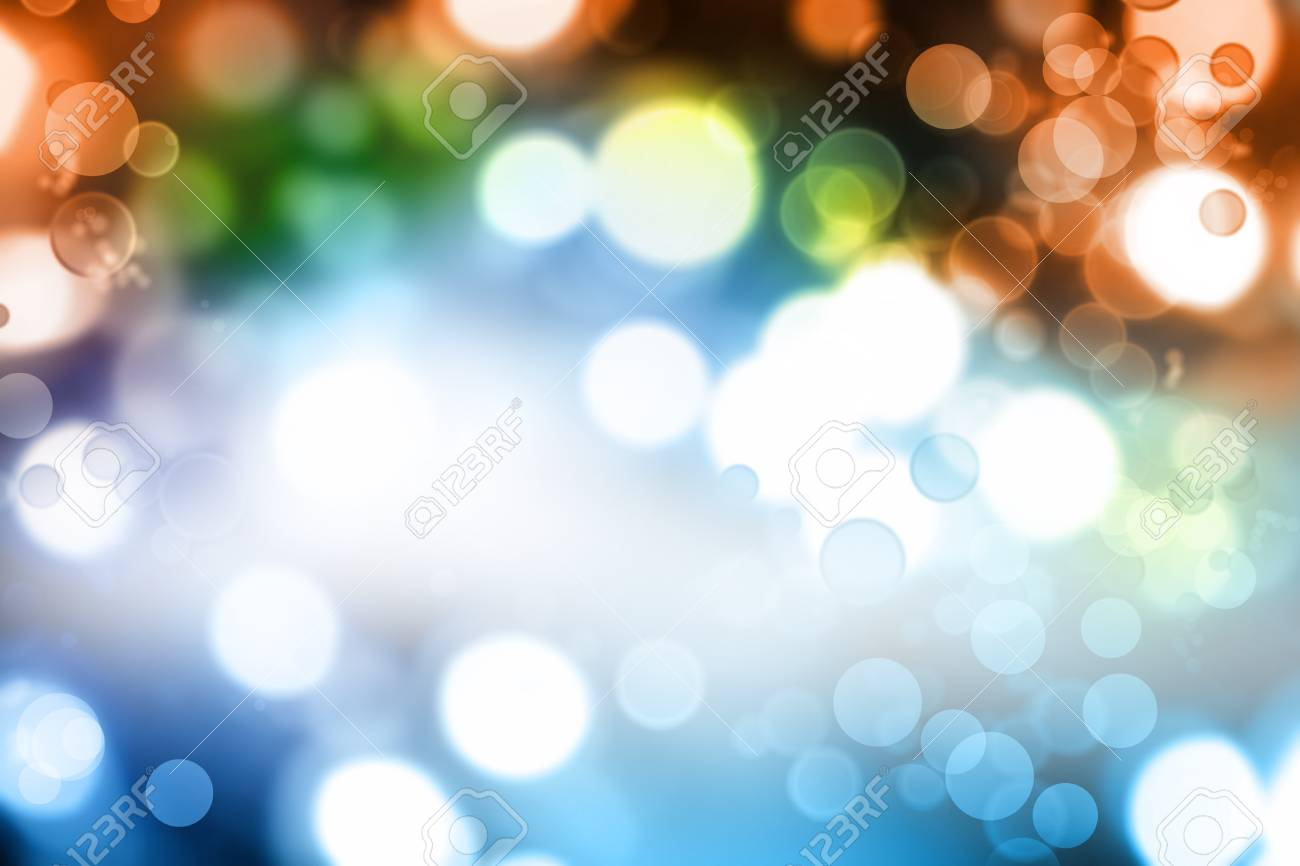 Colorful blurred Christmas lights glowing Stock Photo - 8266133