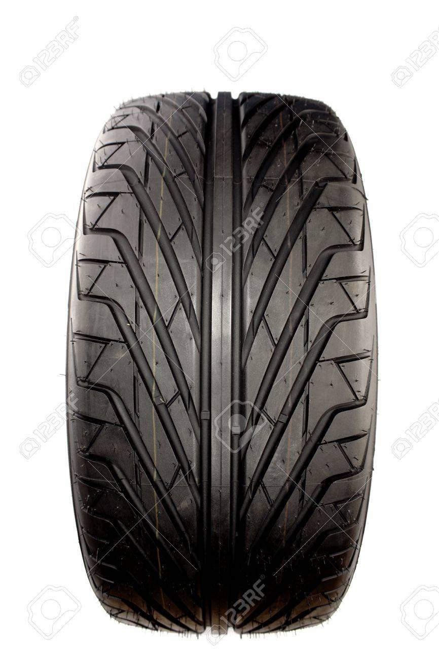 Auto tyre isolated on plain background Stock Photo - 8355409