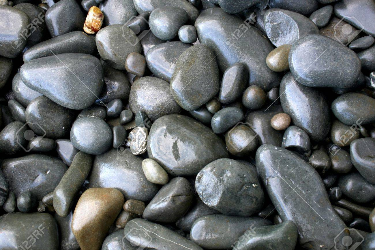 Closeup of assorted smooth stones Stock Photo - 8355396
