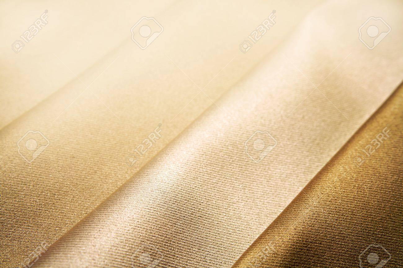 Closeup of folded brown silk fabric Stock Photo - 8752860
