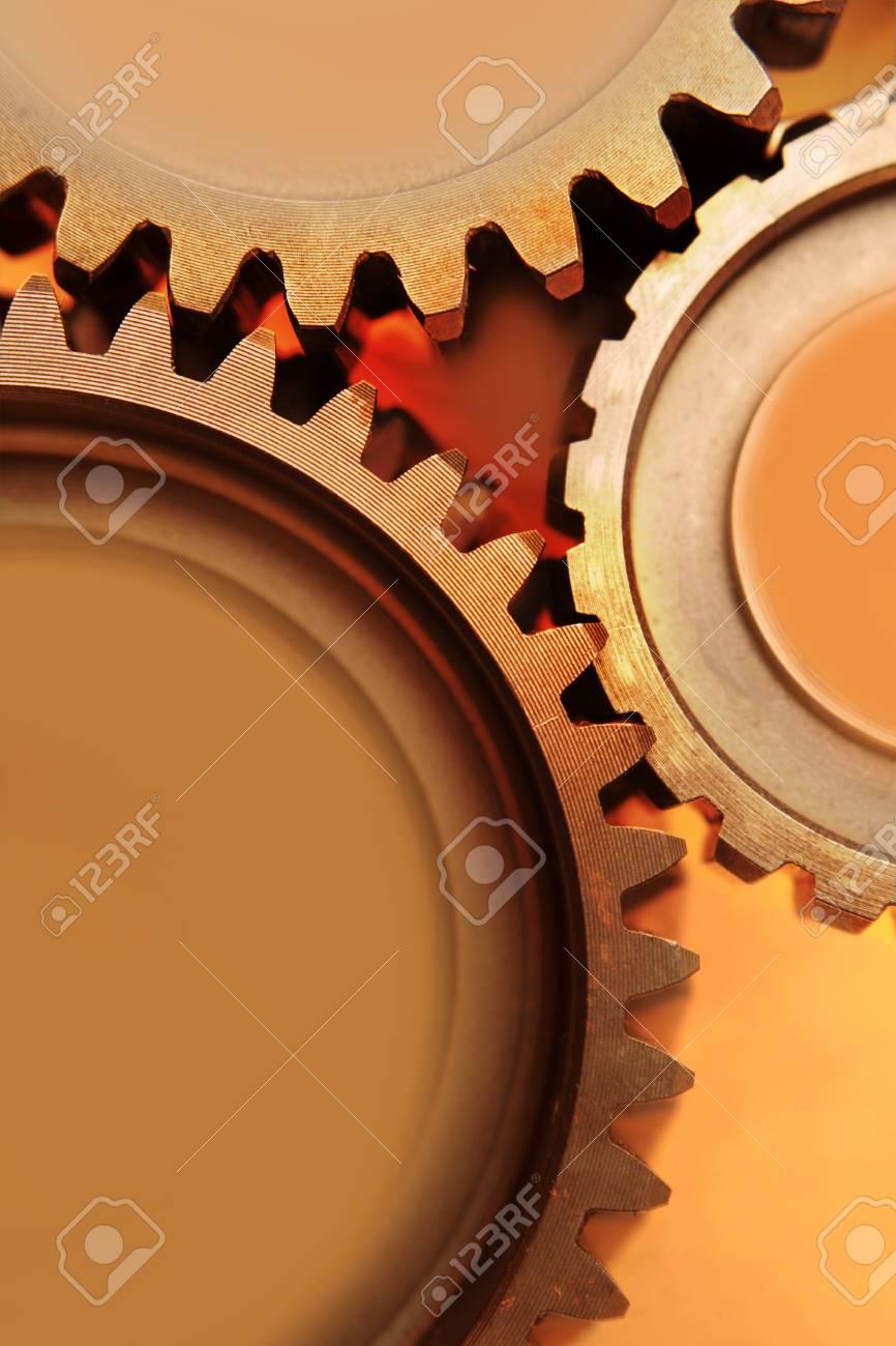 Three metal gears bonding together Stock Photo - 8753029