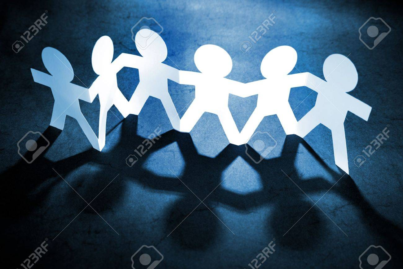 Group of people holding hands Stock Photo - 9570339