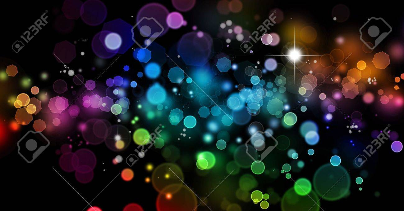 Abstract color blurs on dark background Stock Photo - 10508359