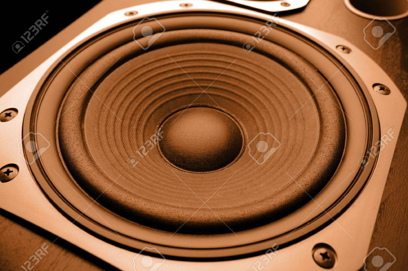 Closeup of stereo loud speaker Stock Photo - 10595623