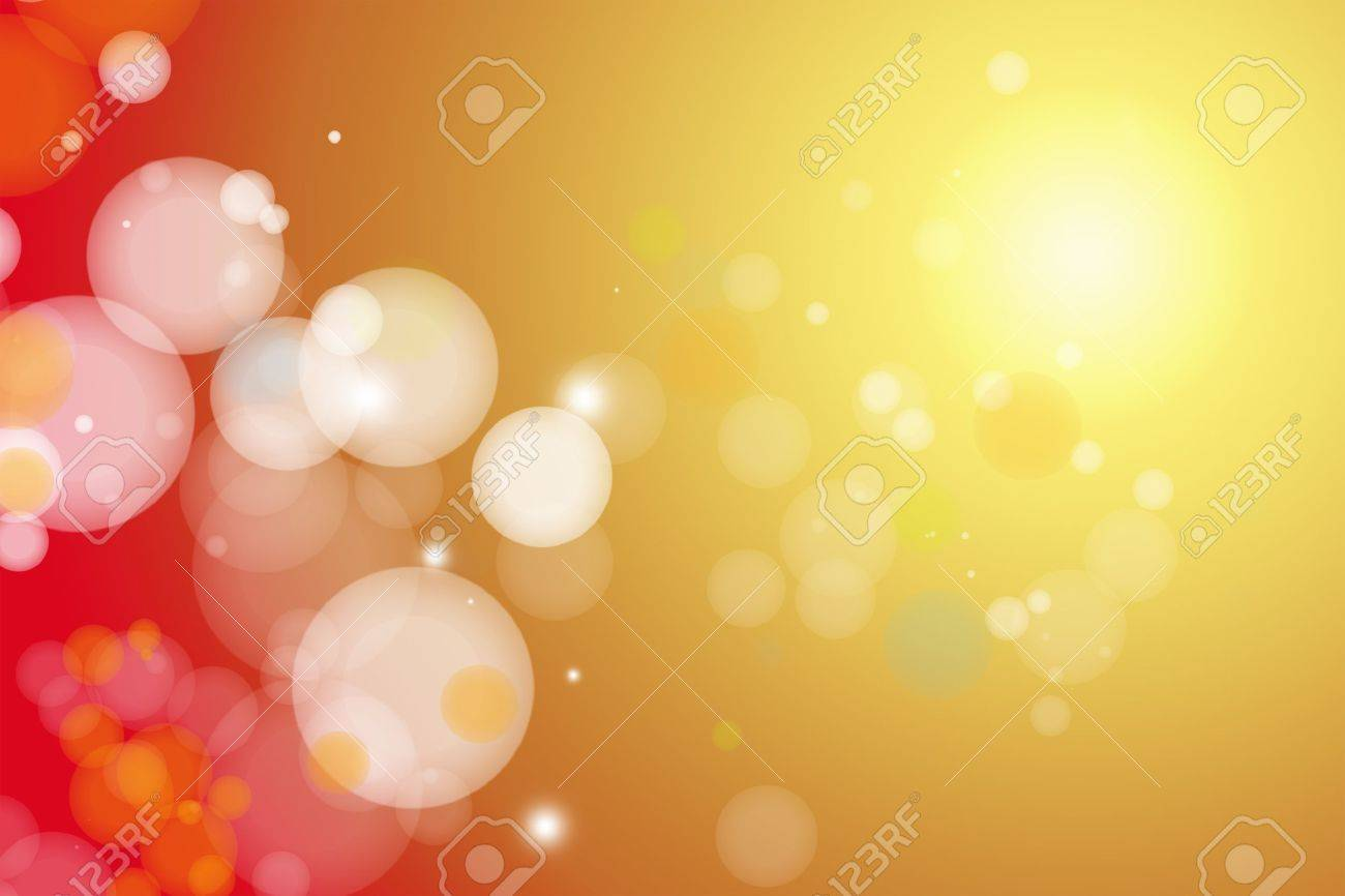 Circles on yellow and red background Stock Photo - 11282382