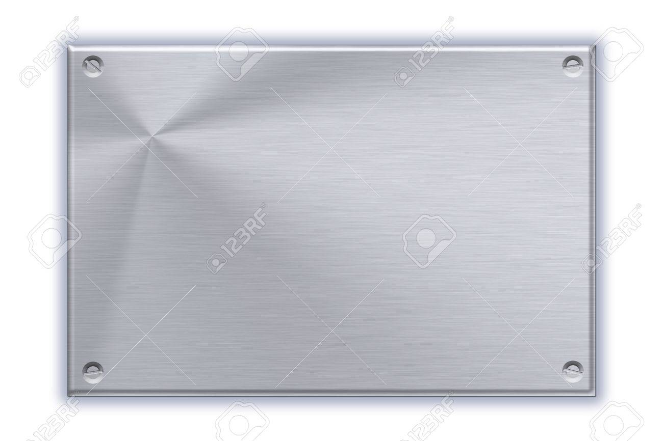 Steel plate on plain background Stock Photo - 12045536