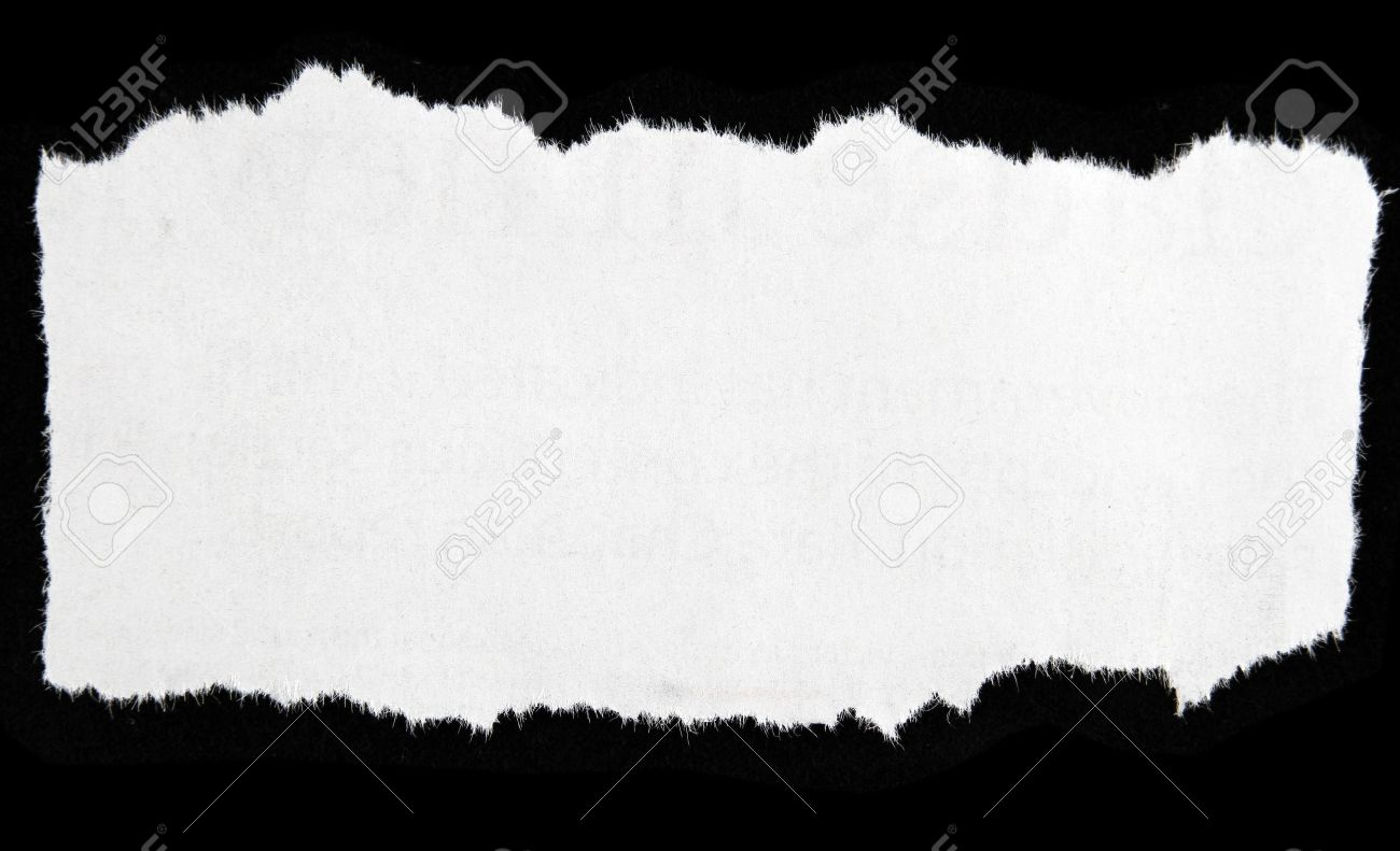 newspaper clipping on black background stock photo, picture and