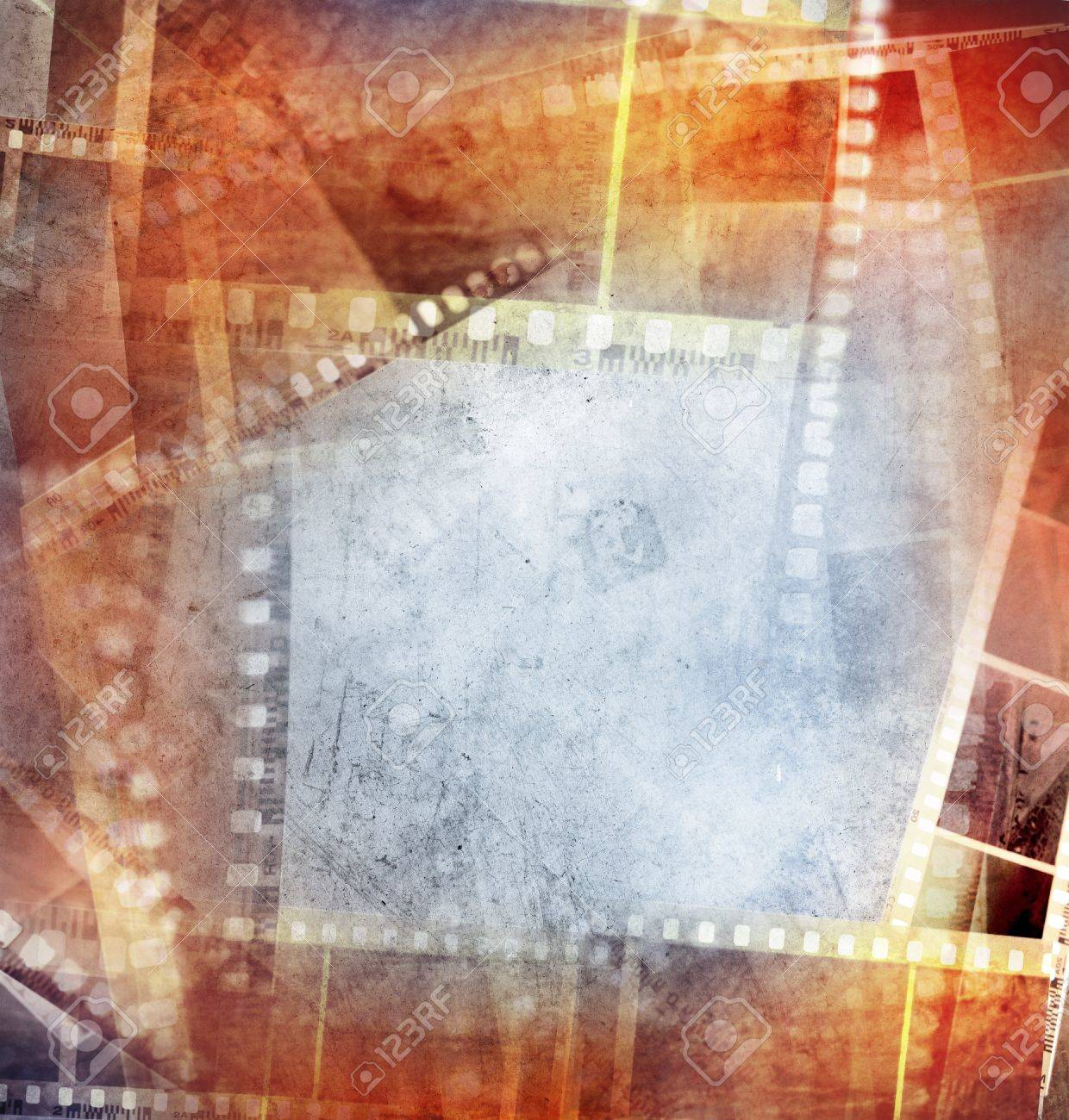 Grungy film negative background, copy space Stock Photo - 14492798
