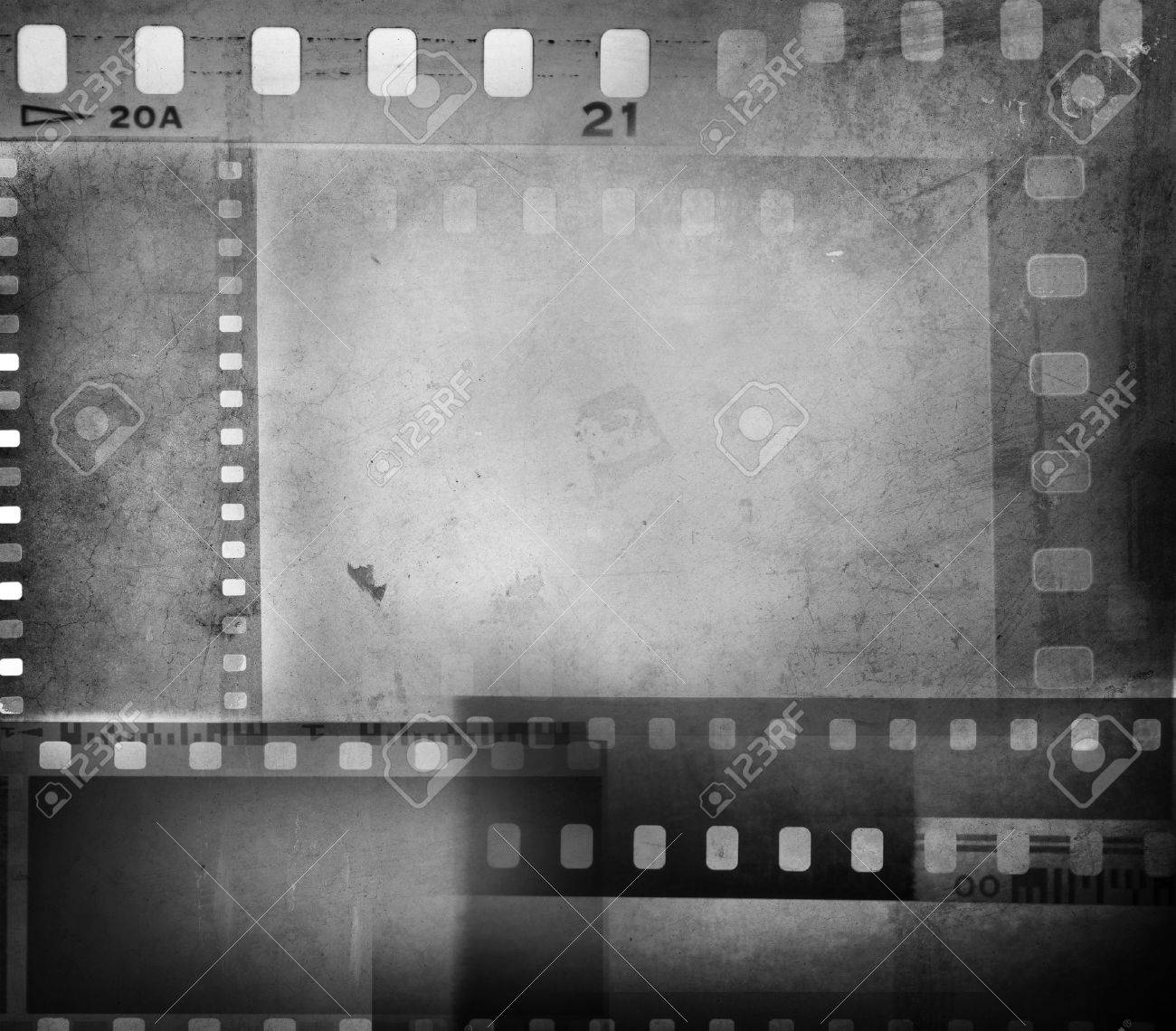 Film Negatives Overlapping, Copy Space Stock Photo, Picture And ...