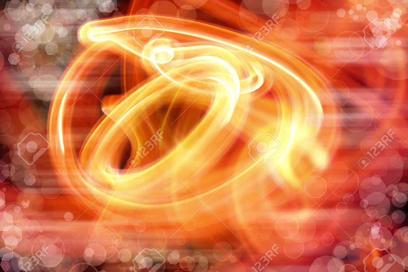 Swirly colorful lines abstract background Stock Photo - 15230743