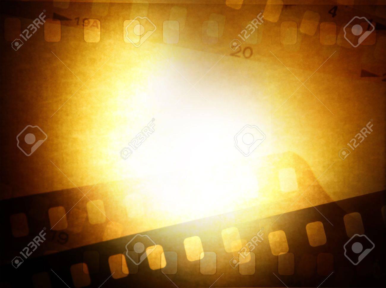 Film negative frames on brown background Stock Photo - 15749513