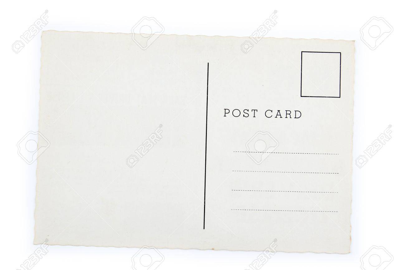 Blank Postcard On Plain Background Stock Photo, Picture And ...