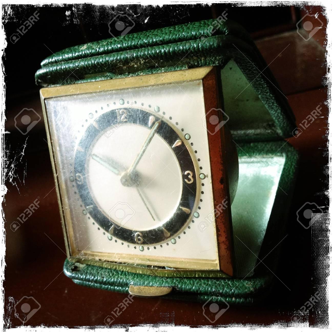Closeup of antique clock Stock Photo - 16173787