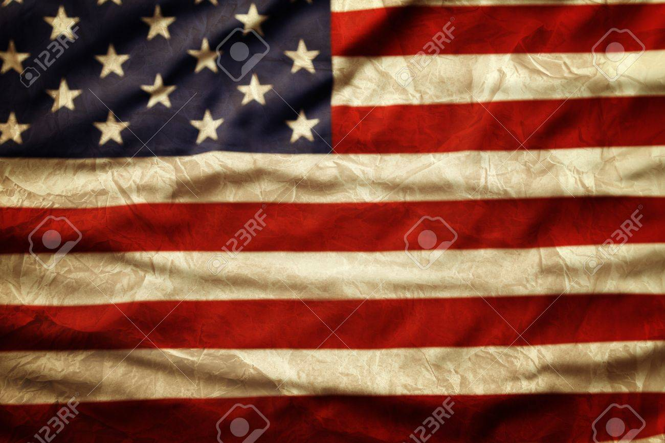 Closeup of grunge American flag Stock Photo - 20585146
