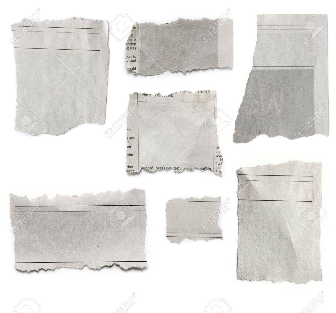 Pieces of torn paper on plain background  Copy space Stock Photo - 21787121