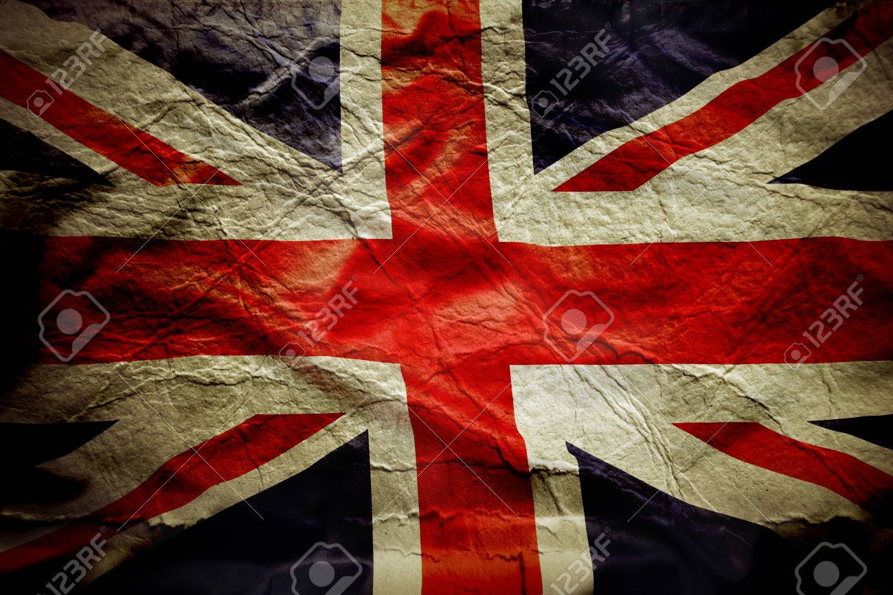 Closeup of Union Jack flag, with texture Stock Photo - 25072108
