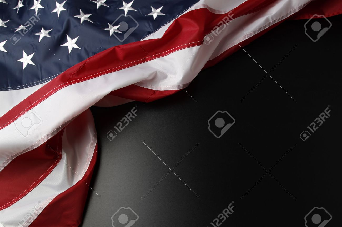 closeup of american flag on dark background stock photo picture and
