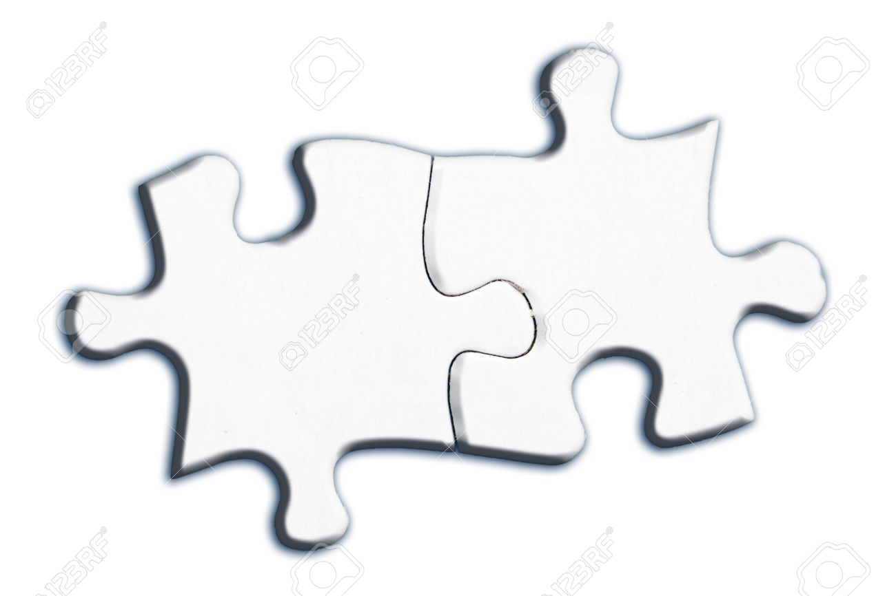 Two Connected Jigsaw Puzzle Pieces Isolated On White Background Stock Photo Picture And Royalty Free Image Image 29595257