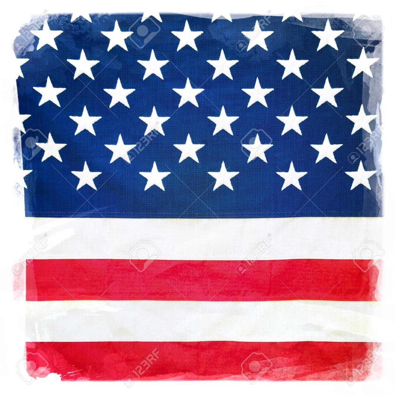 5e7737f6b10c Closeup of stars and stripes of American flag Stock Photo - 29965457