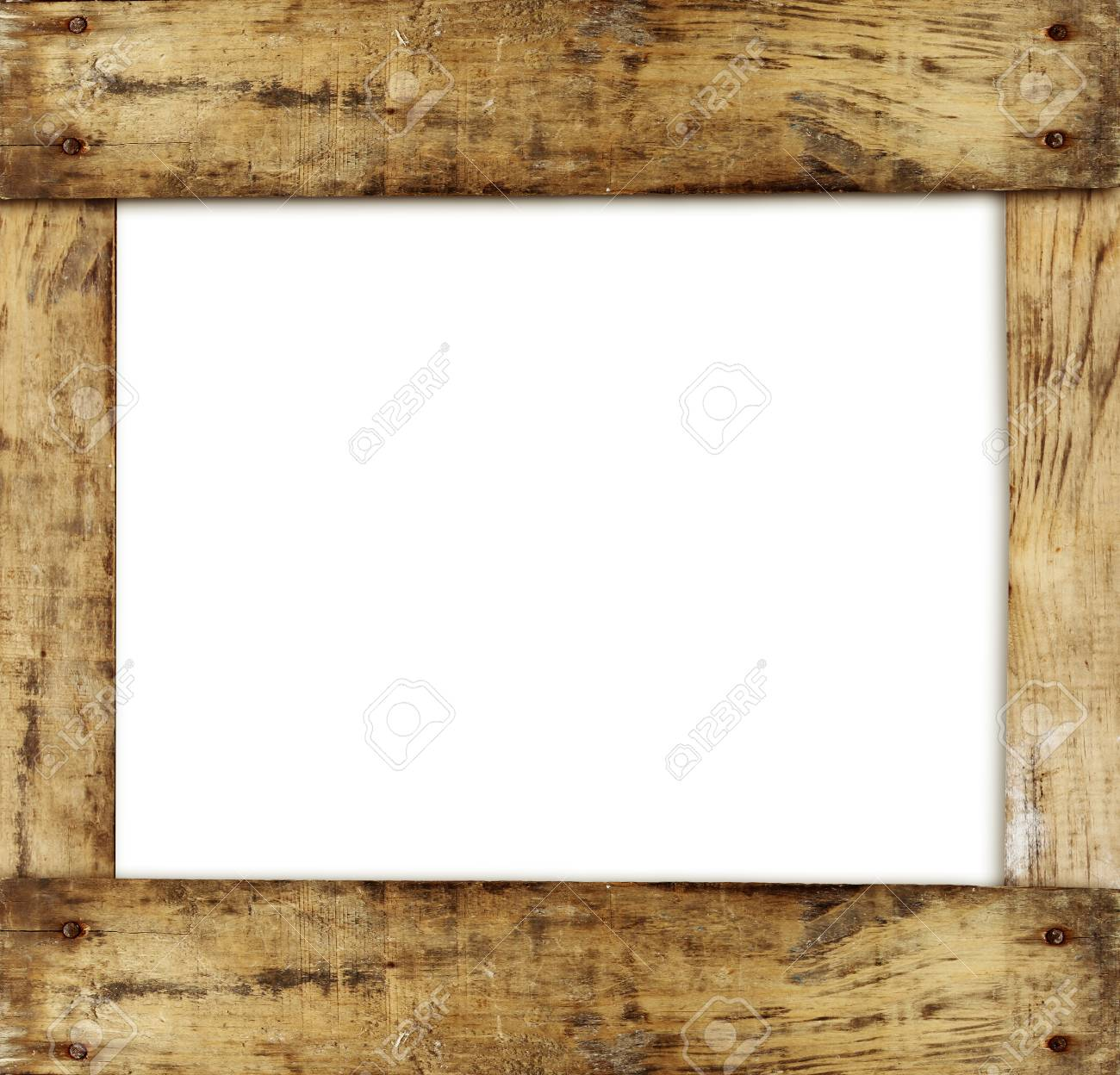 wooden frame on plain background stock photo picture and royalty