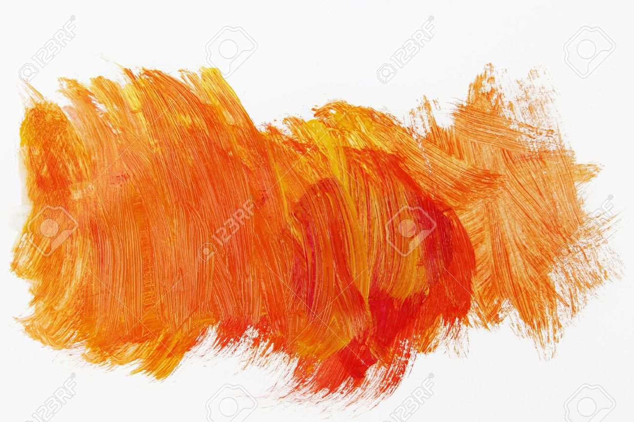orange paint on plain background stock photo 62869274