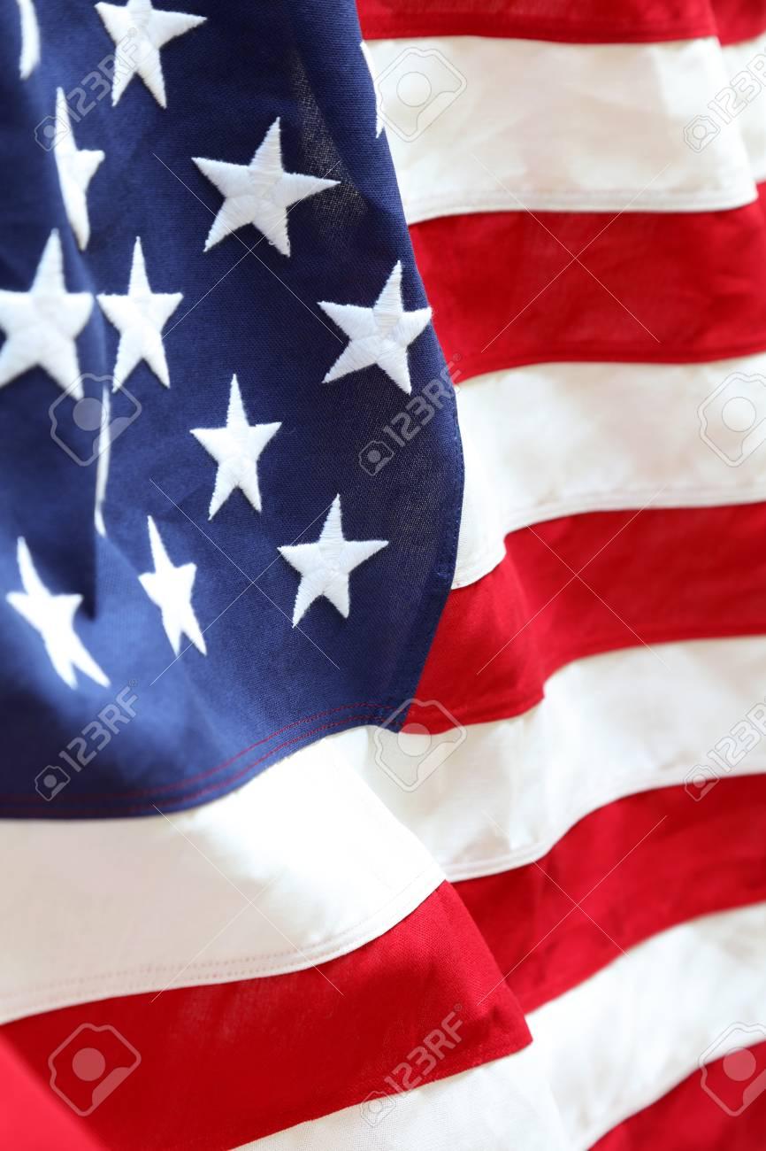 275e5ff7497 Closeup of stars and stripes American flag Stock Photo - 85941686