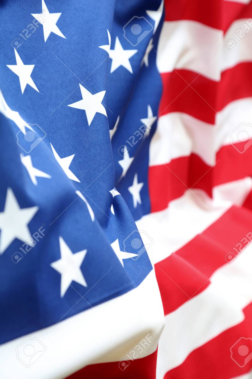 7ff87dcf6f78 Closeup of stars and stripes American flag Stock Photo - 90870652