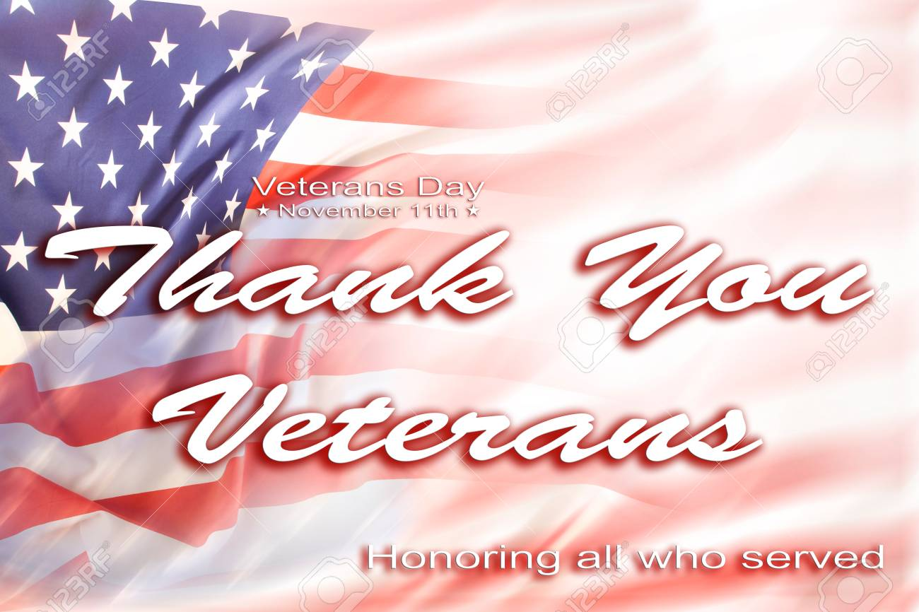 American Flag Veterans Day Message Stock Photo Picture And Royalty