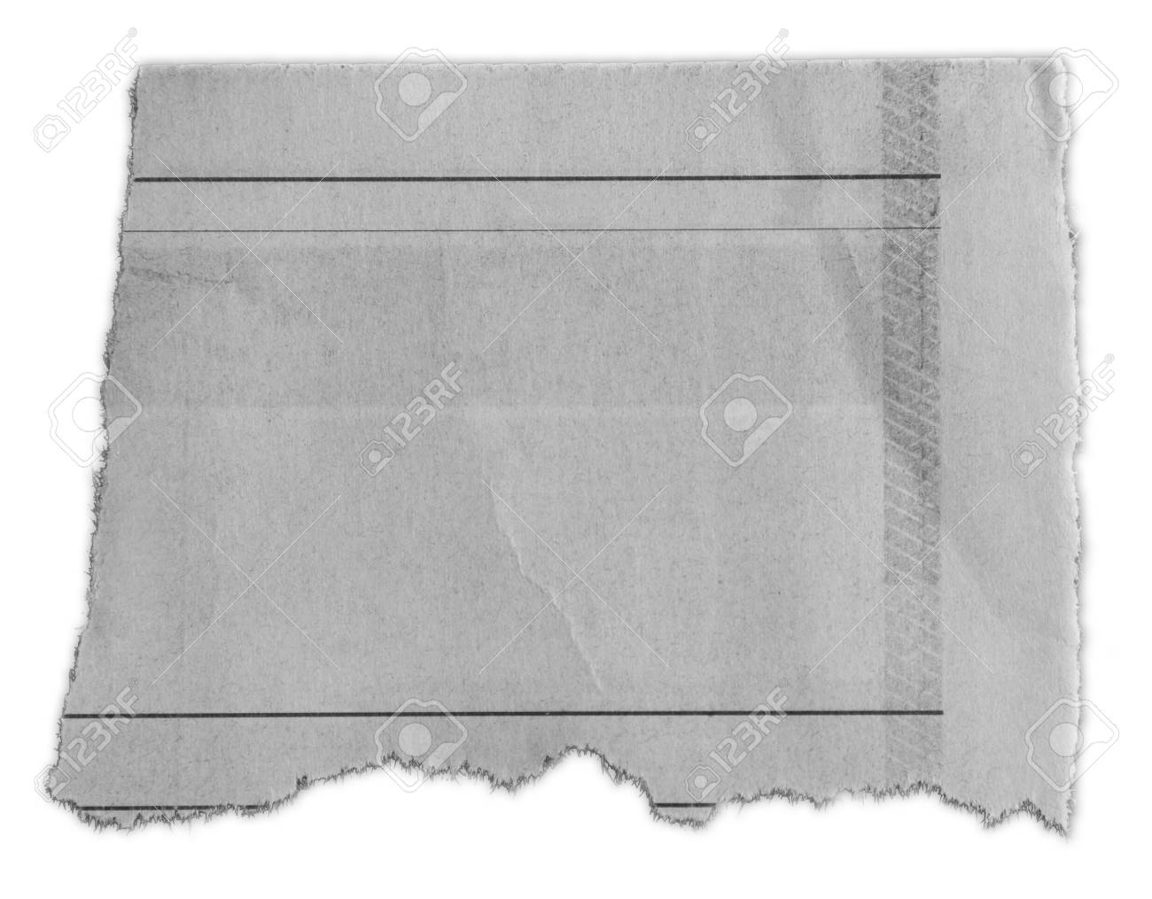 Piece of torn paper isolated on plain background - 120314995