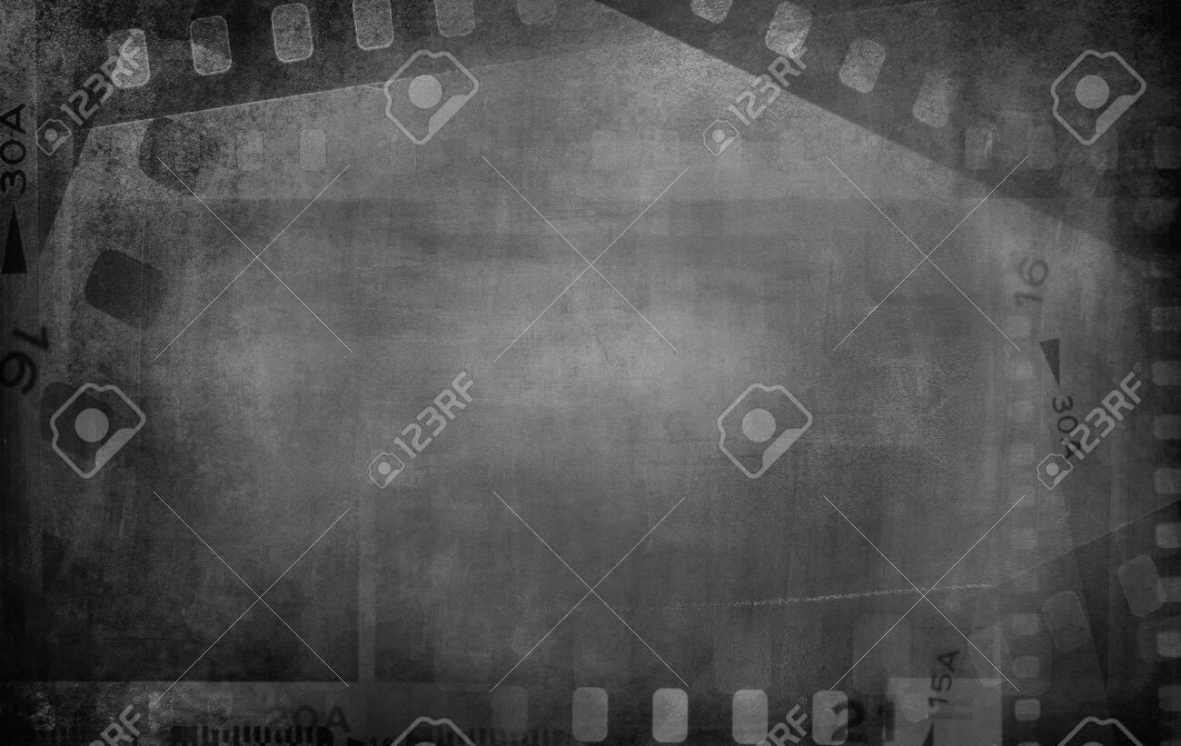 Film negative frames grey background. - 145284772
