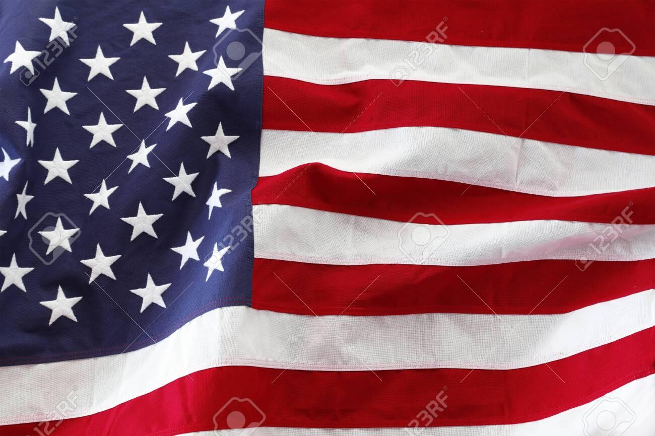 Closeup of rippled American flag - 149298582
