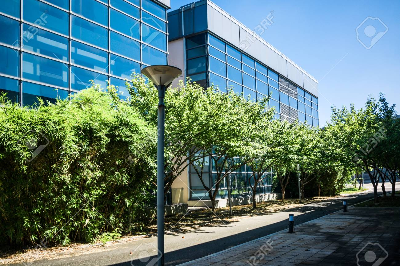 Exterior Of A Modern Small Office Building Stock Photo   94636834