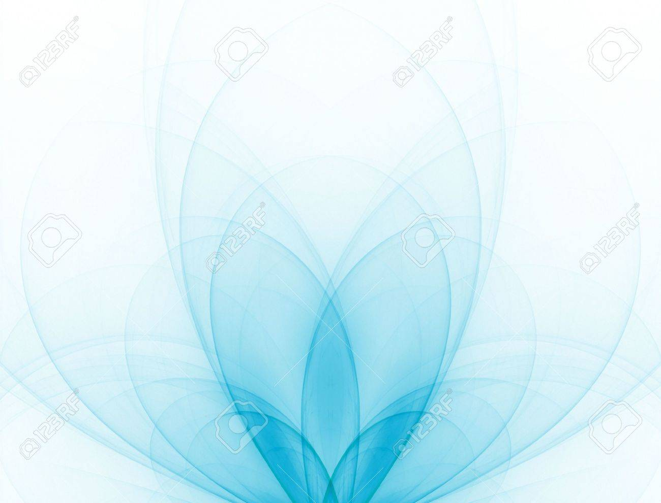 Beautiful, blue colored wispy leaves billow out against white. Stock Photo - 980886