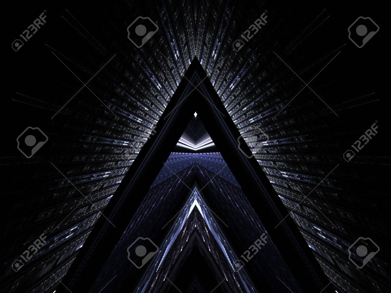 Futuristic textured triangle design (computer generated, fractal abstract background) Stock Photo - 1311700