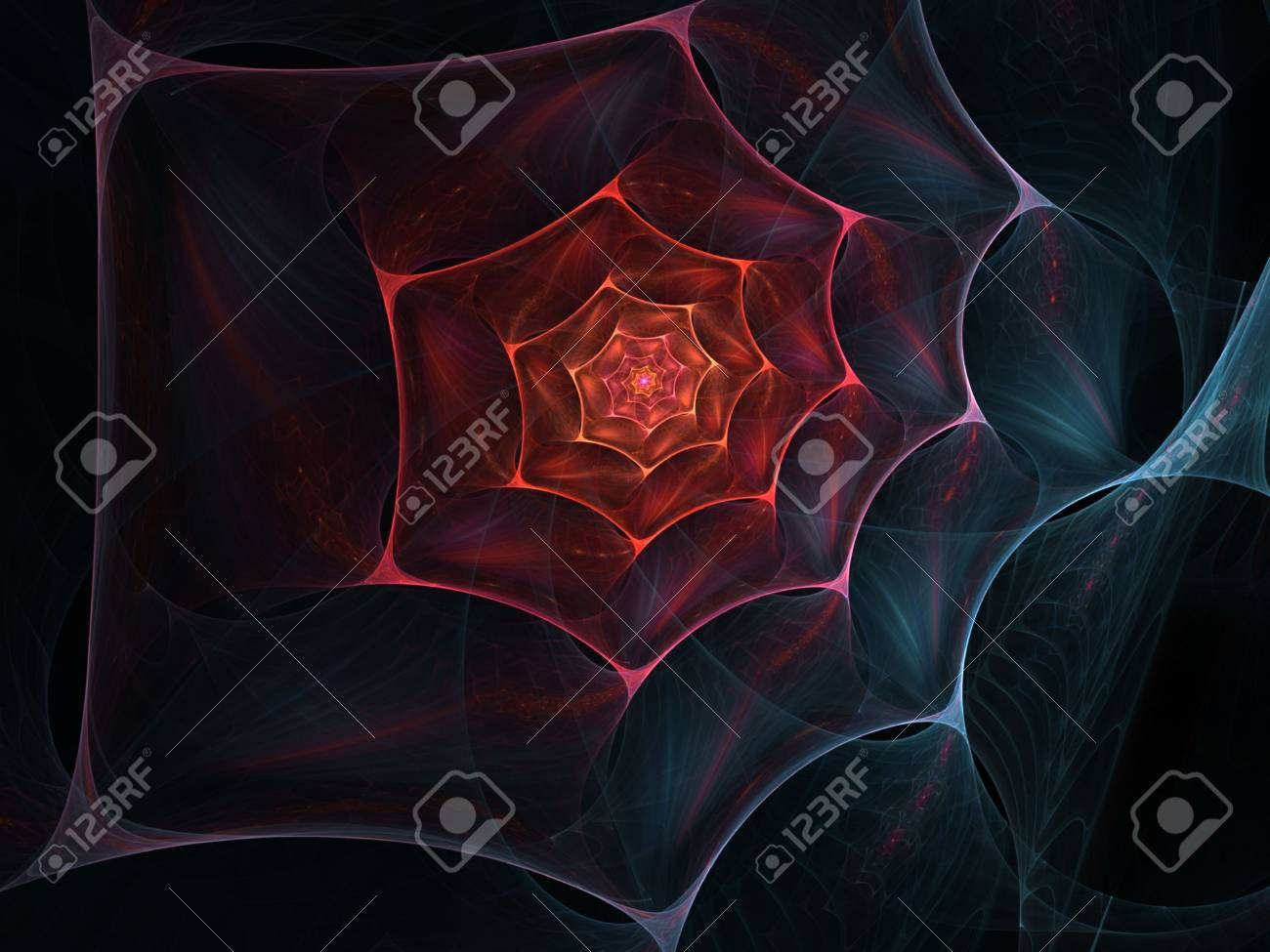 Connected web effect wispy spiral (computer generated, fractal abstract background) Stock Photo - 1796265