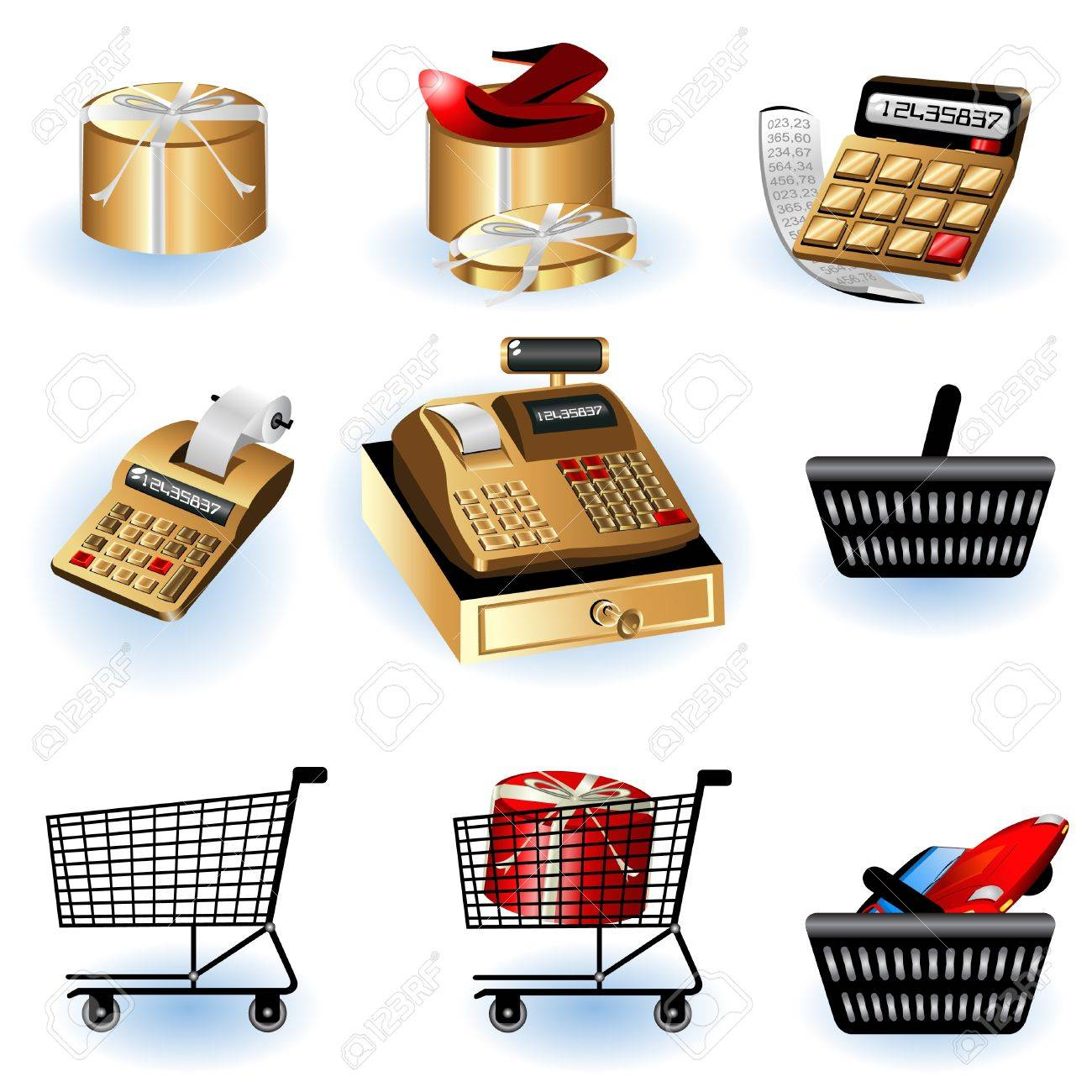 A collection of different shopping icons - part 2 Stock Vector - 9200036