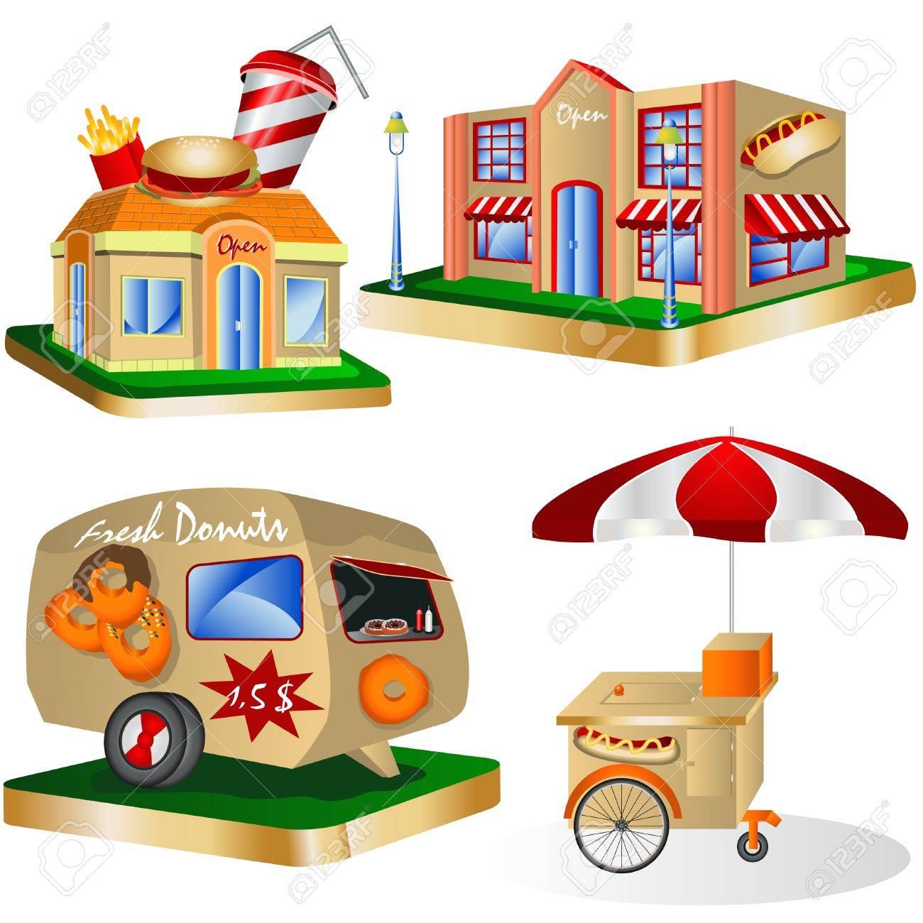 Fancy restaurant buildings clip art - Restaurant Building Fast Food Restaurants Illustration