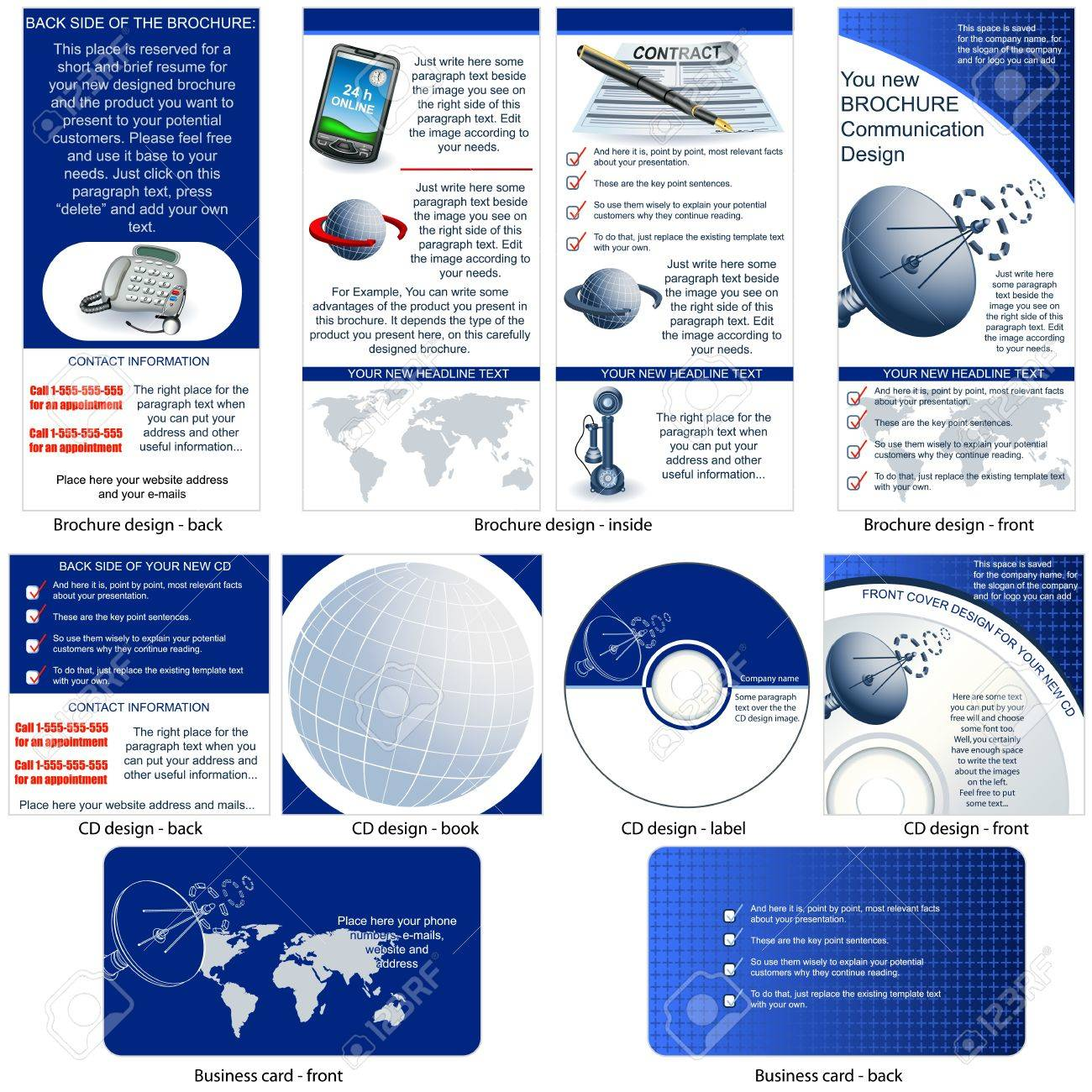 Communication Stationary - Brochure Design, CD Cover Design And ...