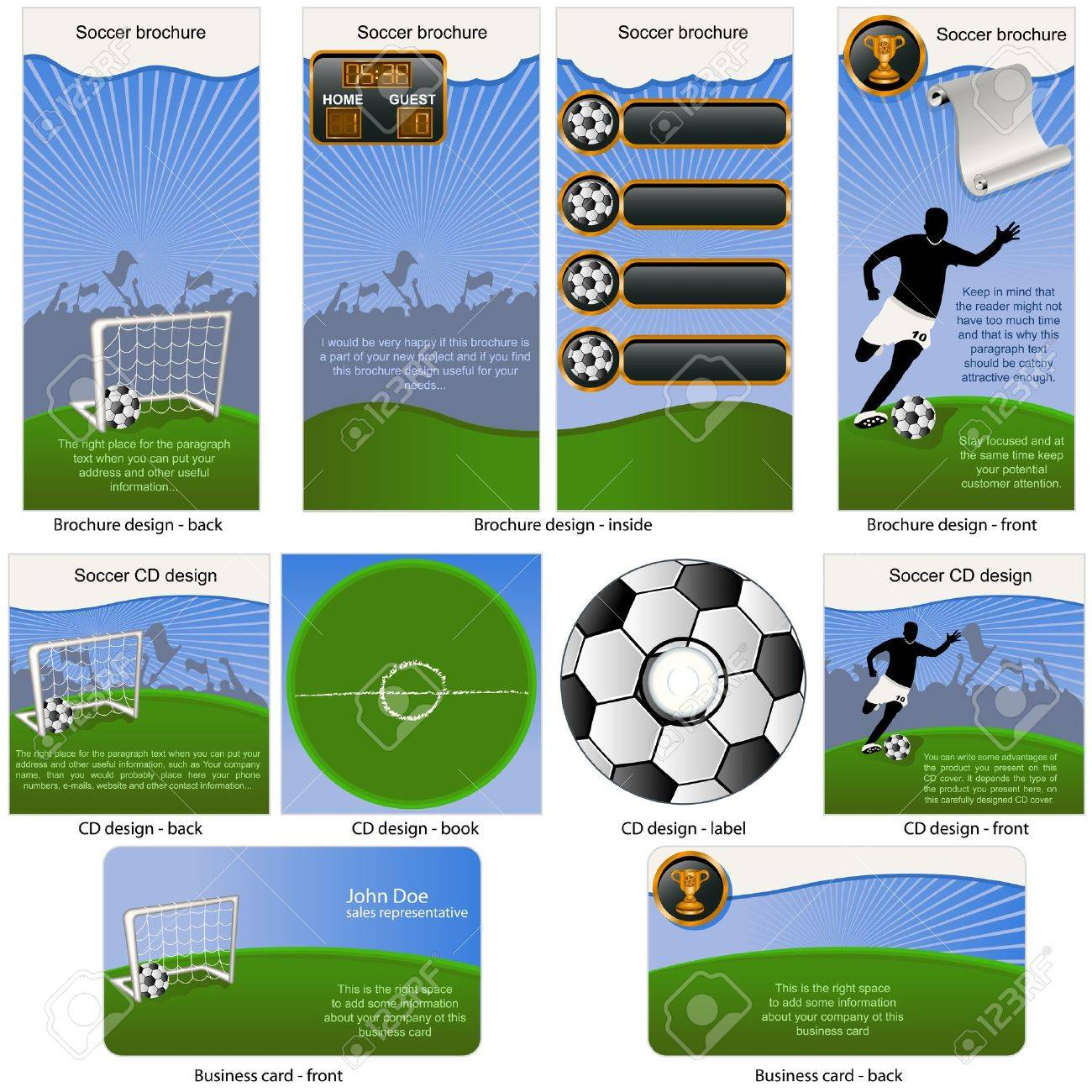 Soccer Ball Stationary - Brochure Design, CD Cover Design And ...